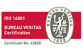 ISO 14001. BUREAU VERITAS Certification. Certificate No.43820