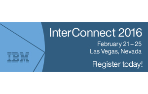 InterConnect2016. February 21 - 25. Las Vegas, Nevada. Register today!